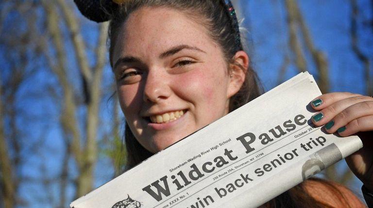Shoreham-Wading River High School senior Emily Ginley, 18,