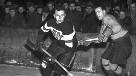 \Augustin Bubnik, former leading Czechoslovak hockey forward, 1949