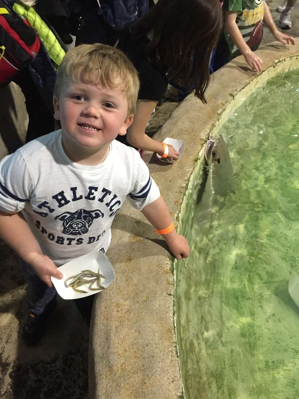 Peter Paul Clark (age 3) of Seaford, NY,