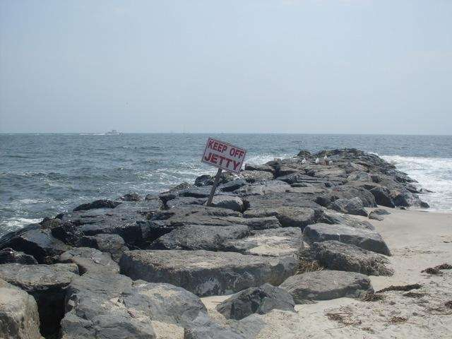 One of the many rock jetties at Point