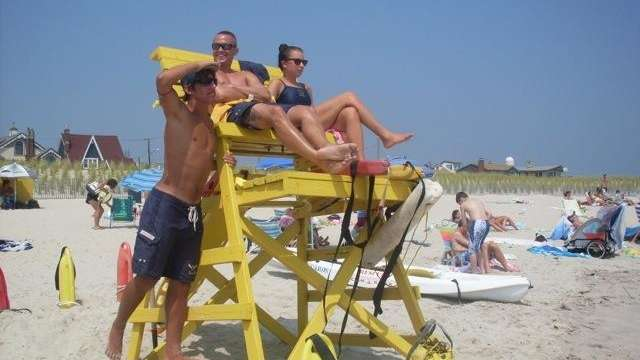 Lifeguards on duty at Point Lookout.