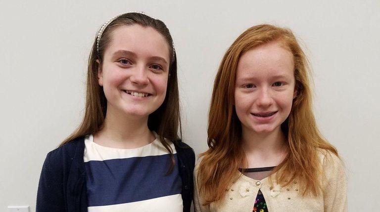 Kidsday reporters Haley Marcincuk and Juliana Turner with