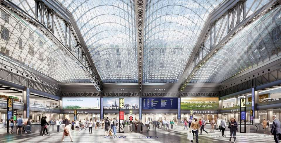 Empire Station/Moynihan Train Hall rendering