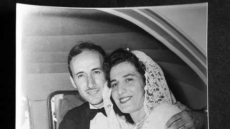 Sal and Sophie Sarro on their wedding day