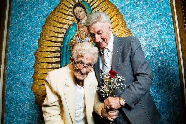 Sophie Sarro, 103, and her husband Sal Sarro,