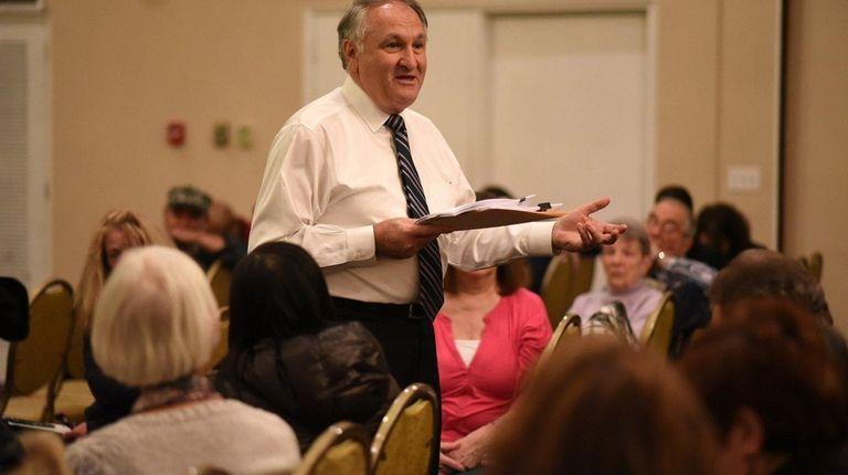 Nassau County comptroller George Maragos speaks during a