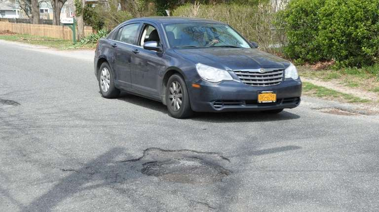 Potholes in the Village of Mastic Beach Operation
