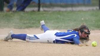 Comsewogue's Erica Hickey (2) cant't get a handle