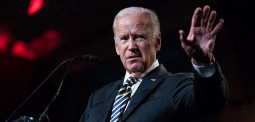 Former Vice President Joe Biden speaks to a