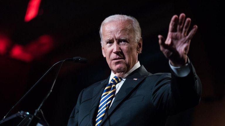 Former Vice President Joe Biden speaks to a