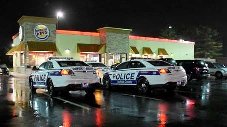 Suffolk County police on scene Wednesday, April 19,
