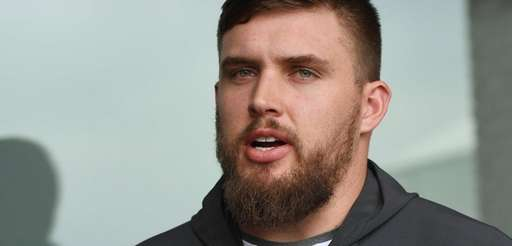 New York Giants center Weston Richburg answers questions