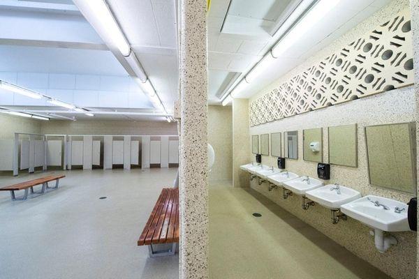 The men's locker room at Bellmore Road Park