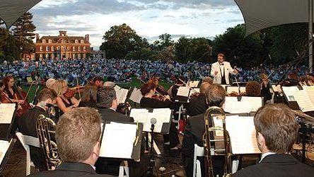 The Nassau Pops Symphony Orchestra, under the baton
