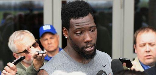 New York Giants defensive end Jason Pierre-Paul answers