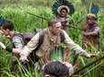 Tom Holland, center left, and Charlie Hunnam play