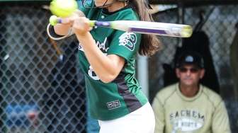 Brentwood's Atrinette Casas worked the plate as well