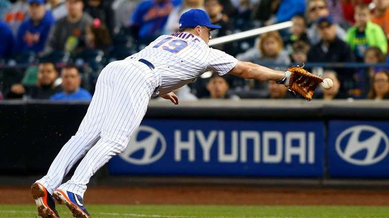 Jay Bruce, filling in at first base for