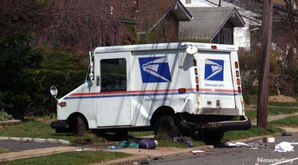 A U.S. postal worker was airlifted to Stony Brook