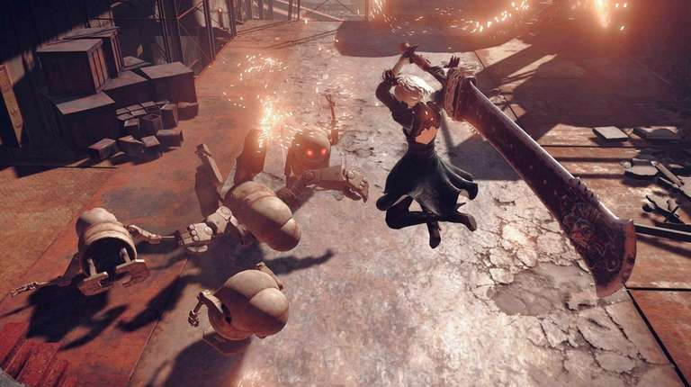 Nier: Automata features character customization and multiple endings.