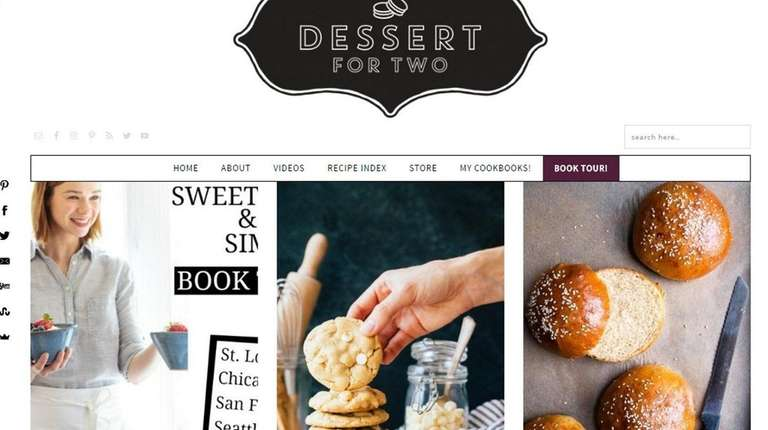 Christina Lane's Desserts for Two site features downsized