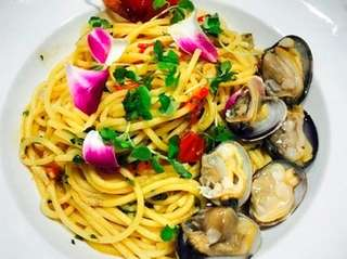 Linguine with whole Manila clams is new on