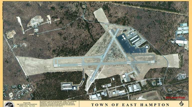 An aerial view of the Town of East