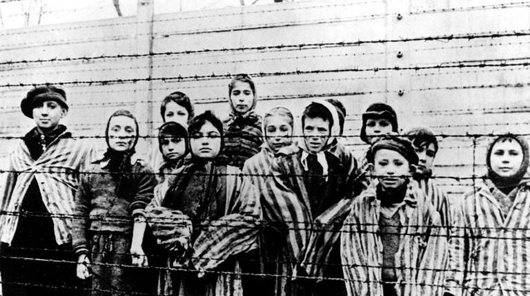 This picture of children at the Auschwitz concentration