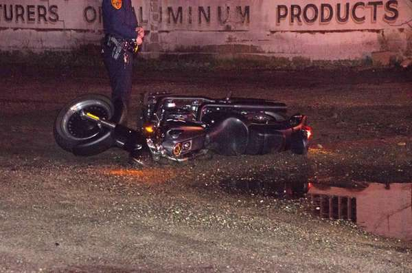 Suffolk County police respond to a motorcycle accident