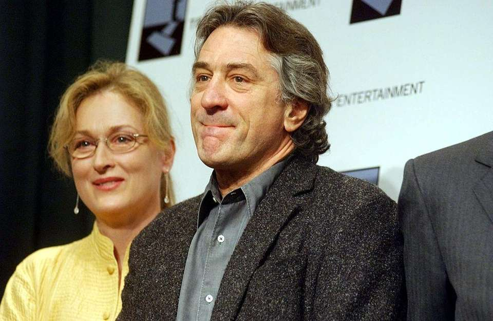 Actress Meryl Streep and actor Robert De Niro