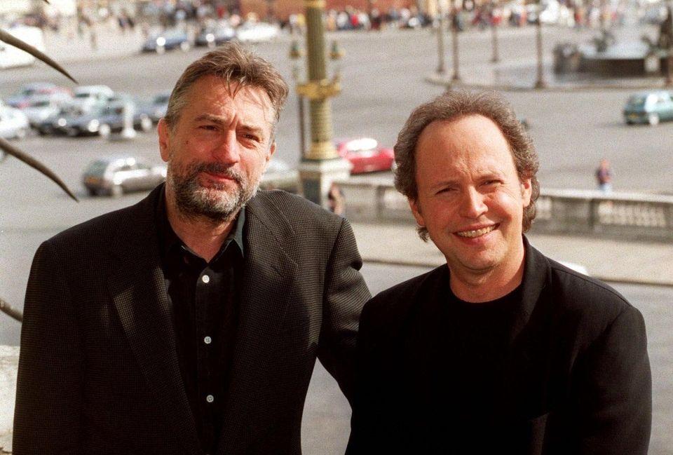 Actors Robert De Niro, left, and Billy Crystal