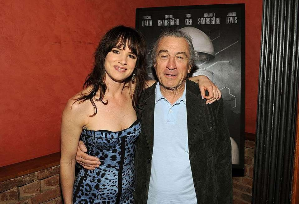 Actors Juliette Lewis and Robert De Niro attend
