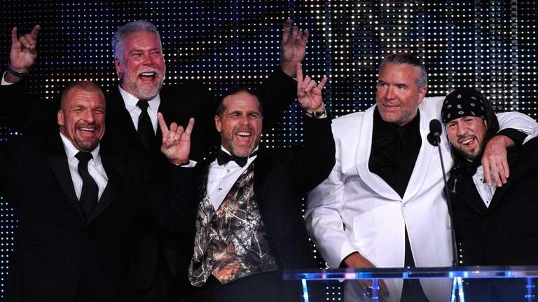From left, Triple H, Kevin Nash, Shawn Michaels,
