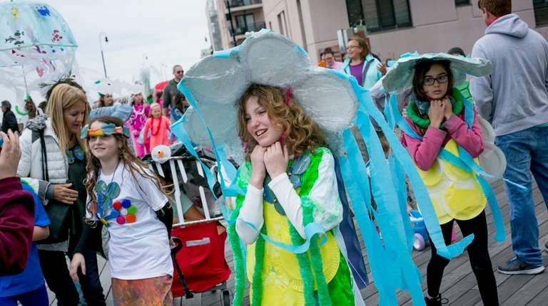 Jenna Zvonik, 11, of Long Beach dressed as