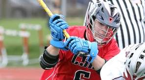 Cold Spring Harbor's Matt Licciardi works to get