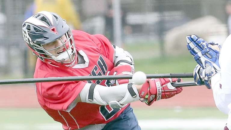 Cold Spring Harbor's Ian Laviano fires a rocket