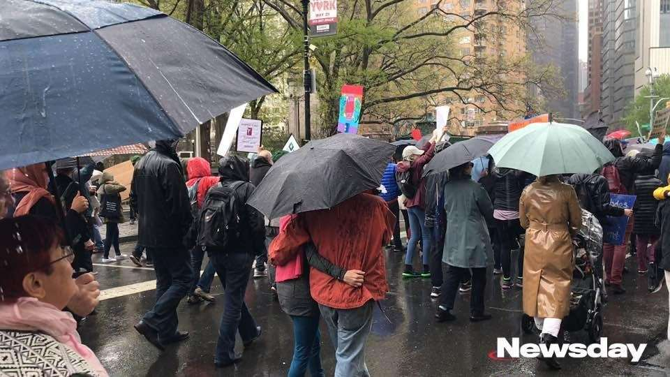 Scenes from a Manhattan's March for Science on