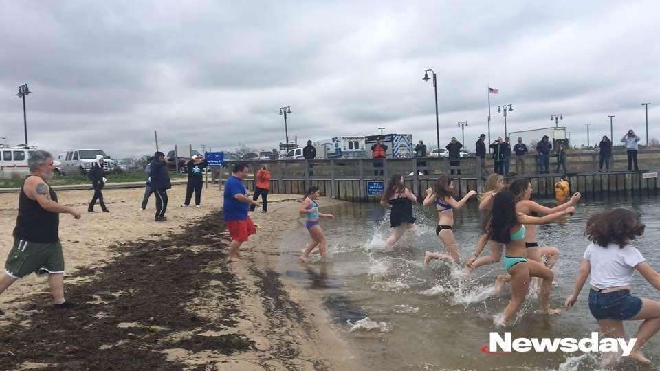 Locals closed out the polar plunge season at