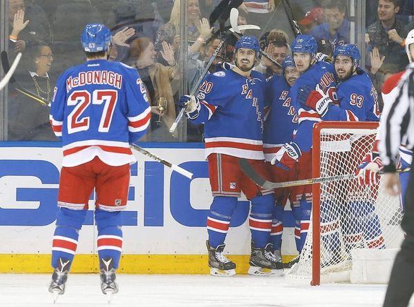 Mats Zuccarello #36 of the New York Rangers