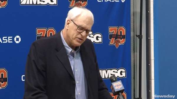 Knicks president Phil Jackson said All-Star forward Carmelo Anthony