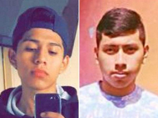 Jorge Tigre, 18, left, of Bellport, and Justin