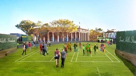 A rendering of Forest Hills Stadium, which will