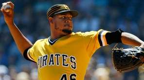 Pirates starter Ivan Nova delivers during the