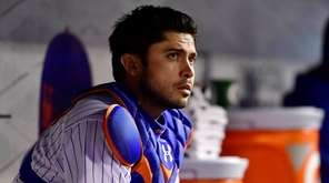 Travis d'Arnaud #18 of the New York Mets