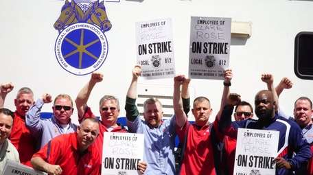 Union delivery drivers and warehouse workers for East