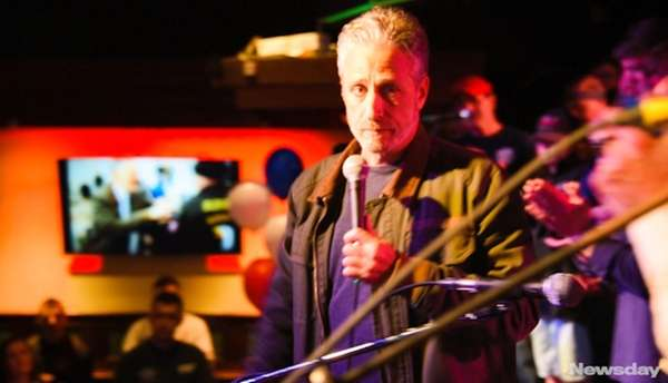 Comedian Jon Stewart attended an FDNY Family Transport