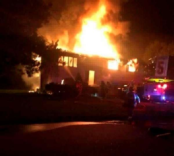 An early morning fire Monday, April 24, 2017,