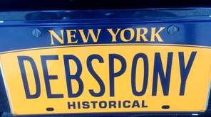 Debbie Levine, of West Hempstead, sports this plate