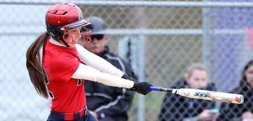 Miller Place's Kelli Ryan drives in a run