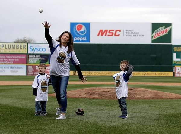 Lisa Martinolich-Tuozzolo and her two sons Joseph, 4,and